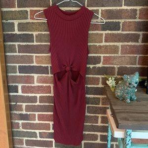 Knit knot front dress